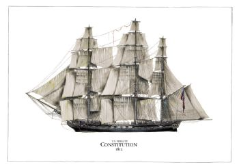 US Frigate Constitution 1812